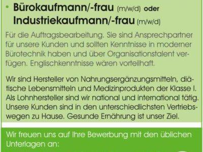Büro-/Industriekaufmann