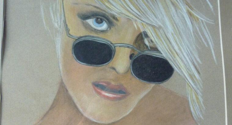 Bild verglast, Originalzeichnung, 51×61 cm